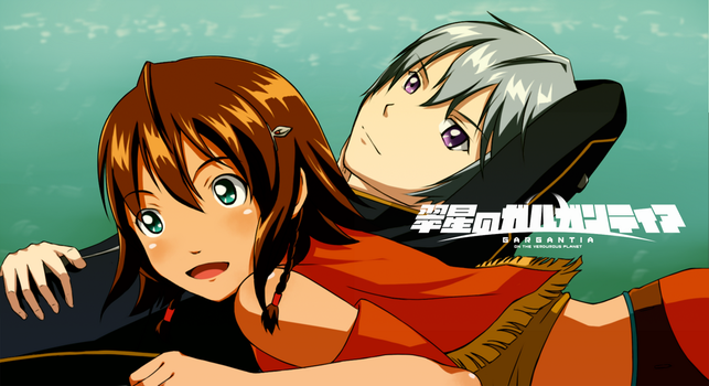 Suisei no Gargantia-Red and Amy by windwillows