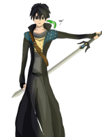 Kirito from sword art online by The8bitpixel