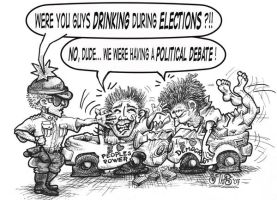 Election weekend, no alcohol by sethness