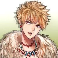 Bakugou Colored sketch by najinichan