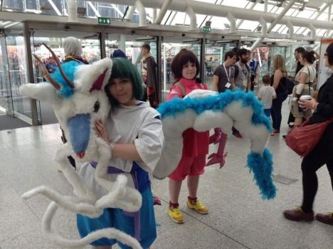Haku and chihiro spirited away by everlasting-cosplay