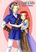 Link and Malon by Adella