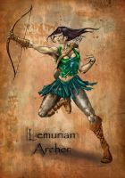 Lemurian Archer by ravenofsorrows