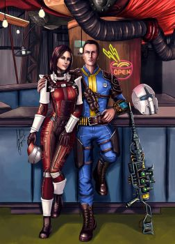 Fallout - Piper and friend. by AHague
