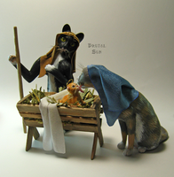 Cat Nativity by brutalsunstudio