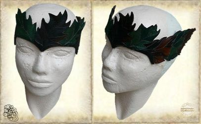 Leather crown 43-1 by Eternal-designs-com