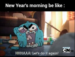 New Year's Morning (Gumball Screen-Cap) by SquirrelCat1998V2