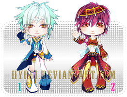 Auction : Chibi Boys Set 1 [CLOSED] by HyRei