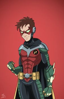 Robin Beta 2027 (Earth-27) commission by phil-cho
