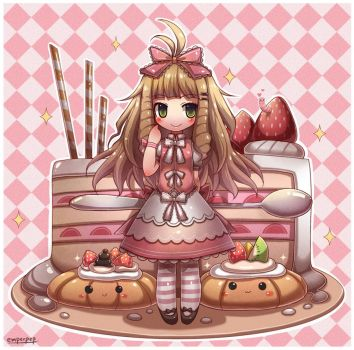 Kawaii Pastry Chibi by emperpep