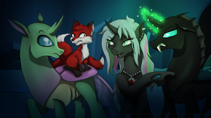 Changeling OCs with Tricky Fox by MarieDRose