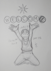 Azur Daily Sketch 152 - New Month, New Vegas by GhostOcelot