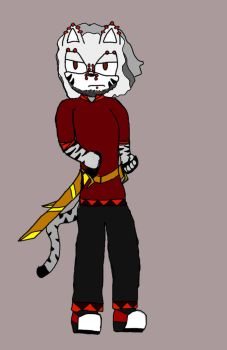 Character: Goss Feroux the White Tiger by TimtheOwl8275