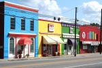 Colourful Downtown Buildings by estjohn