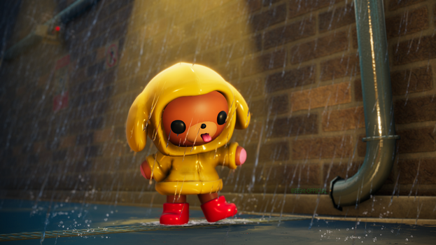 Raincoat Puppy Chibi by EEEnt-OFFICIAL