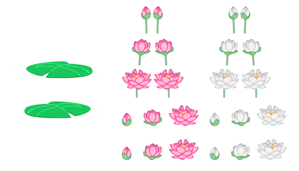 MLP Resource: Lotus Flowers and Lilypads by SaturnGrl