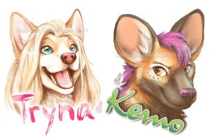 2015 Megaplex Painted Badges by GoldenDruid