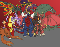 Kaiju - Mutants by Daizua123