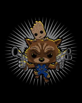 Rocket and Groot FINAL by CaziTena