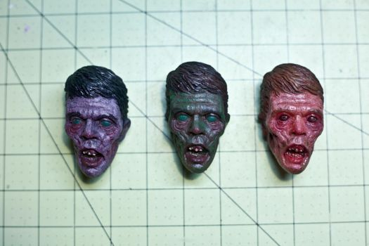 Painted zombies. by misfitjake