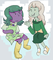 Mystic Topaz meets Jade by Tremendous-By-Design