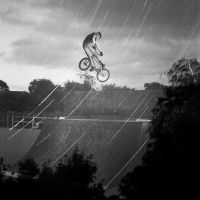 star trails and bmx by Kimbell