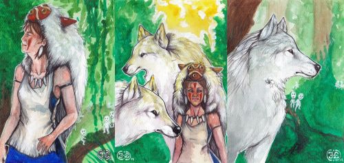Mononoke Hime Card Set by inessiivi