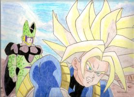 USSJ Trunks and Perfect Cell by Stephr0x0rs