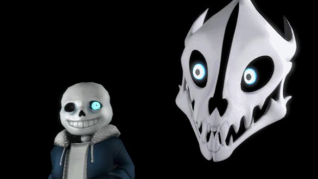 GIF - Sans and Gaster Blaster by JeffWoods039