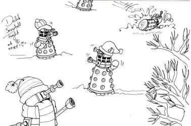 Daleks Snowfight by caycay