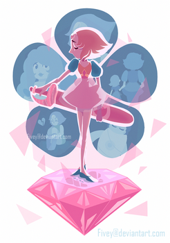 A Single Pale Rose by Fivey