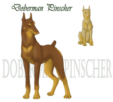 Doberman Pinscher by KeechakVarg