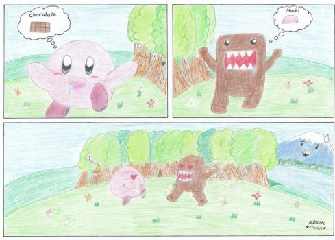 Domo and Kirby - Hunger makes blind by little-Kiki
