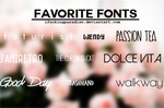 Favorite Fonts by iFuckingParadise