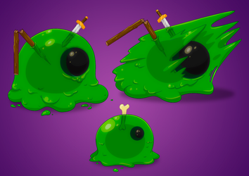 Slime monsters by molegato