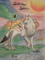 Amaterasu and Issun by Kichougull