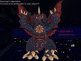 MMD Godzilla Newcomer - Destoroyah UPDATED +DL+ by MMDCharizard