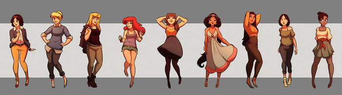 Disney Princess Fanart by Ben-Keen