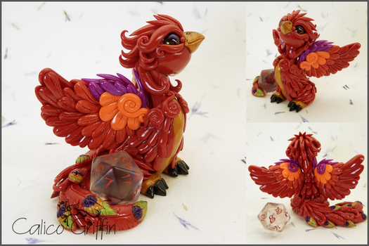 Custom order: Phoenix dice holder by CalicoGriffin