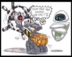 Never scan WALL.E's girl by PurpleRAGE9205