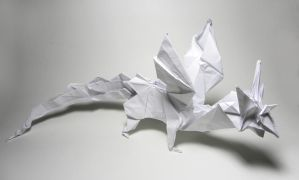 Dragon-Heart Origami by twistedndistorted