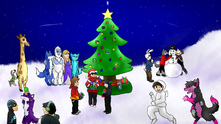 Christmas poster by Gravelleaf