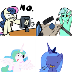 Collection of Pony Reactions by Ironfruit
