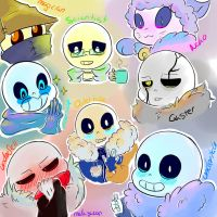 Sans Everywhere by shion396