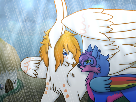 A Shield from the rain by MistyTheLith