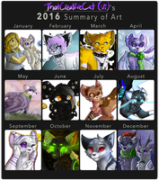 2016 Art Summary by ThatCreativeCat