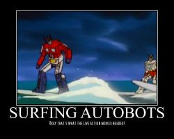 Surfing Autobots by ProfessM