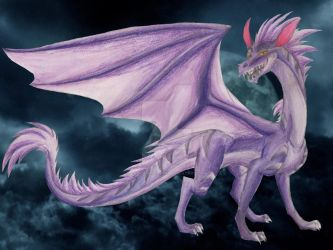 Obscumbro, Dragon of Shadows by LadyAnaconda