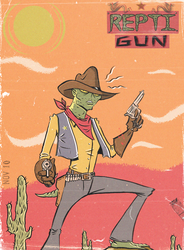 REPTIGUN, POPTAGE STYLE by paintmarvels