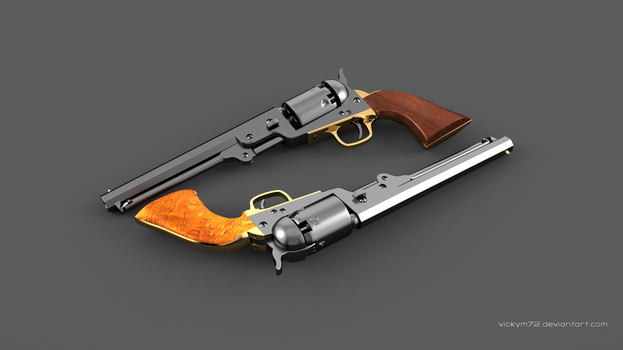 Colt Navy 1851 by VickyM72